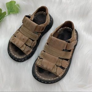 Dexter | Kids Brown Leather Fisherman Sandals 6